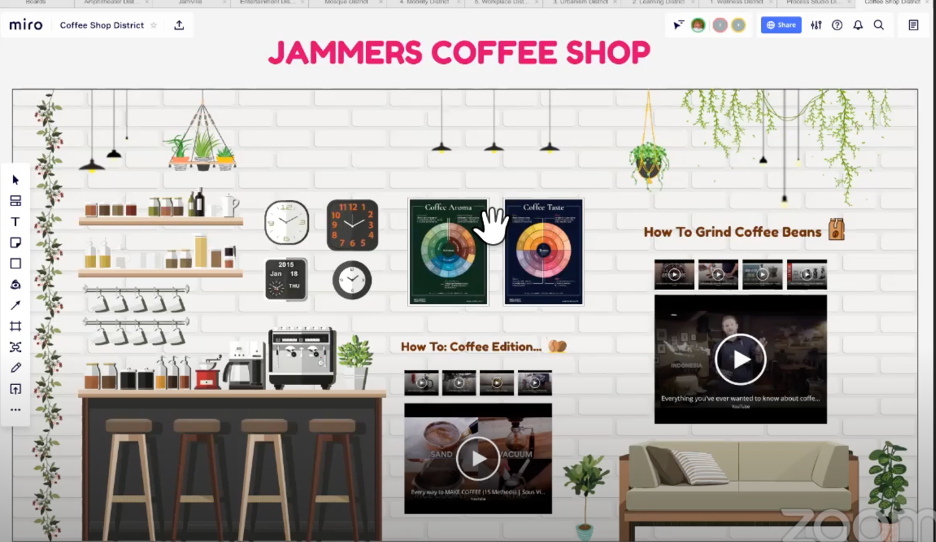 Figure 3 View of the interior of JamVille's Coffeeshop